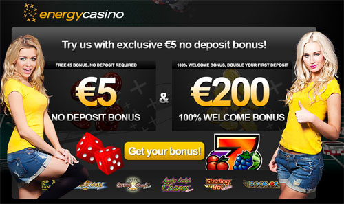 Get your €5 free at Energy Casino now!